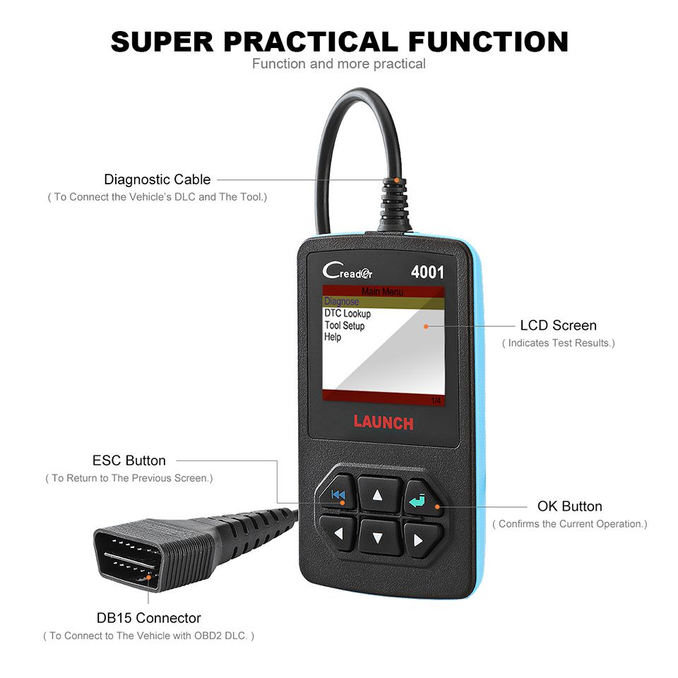 Transmission messager 4001 OBD2 reader diagnostic scanner